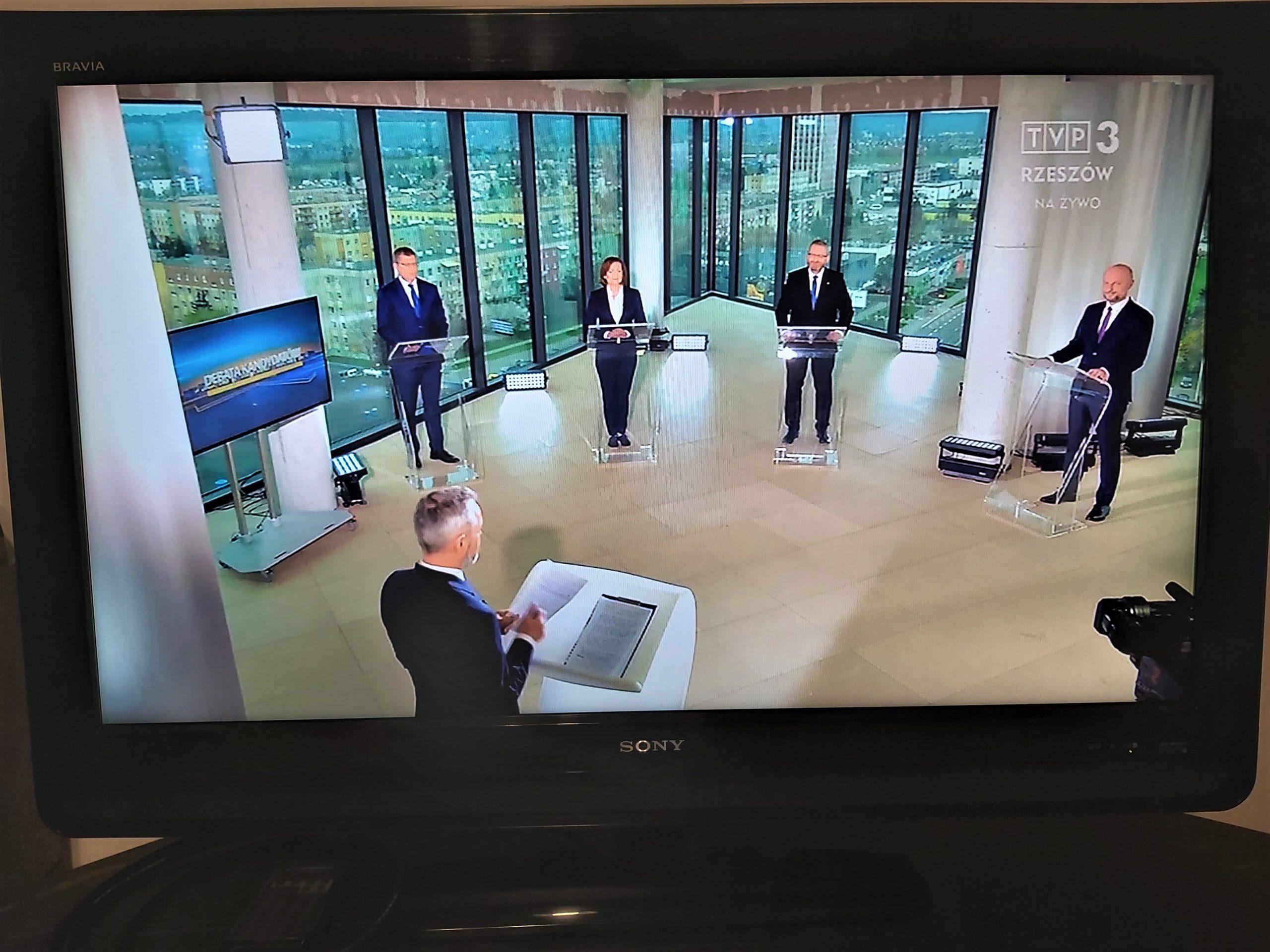 Ja Panu czasu nie zabierałem – debata prezydencka w Telewizji Regionalnej.